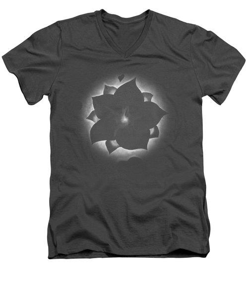 Fleur Et Coeurs Monochrome Men's V-Neck T-Shirt