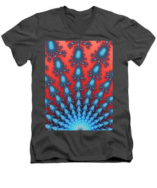 Fractal Starburst Men's V-Neck T-Shirt
