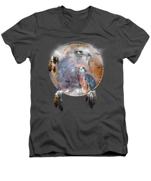Dream Catcher - Hawk Spirit Men's V-Neck T-Shirt
