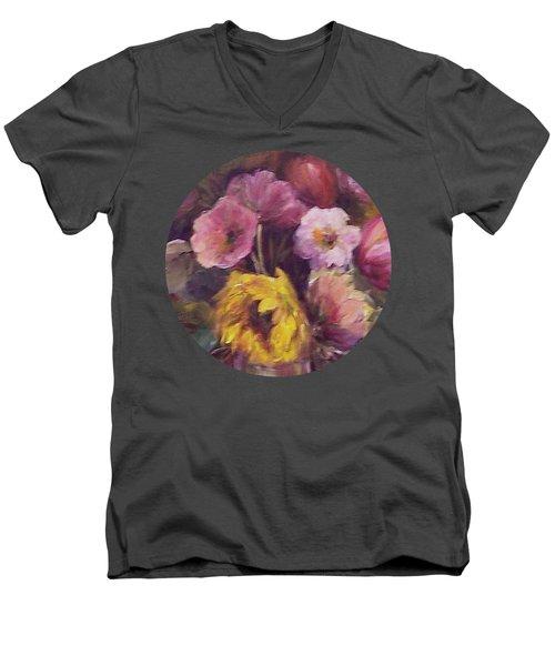 Abundance- Floral Painting Men's V-Neck T-Shirt