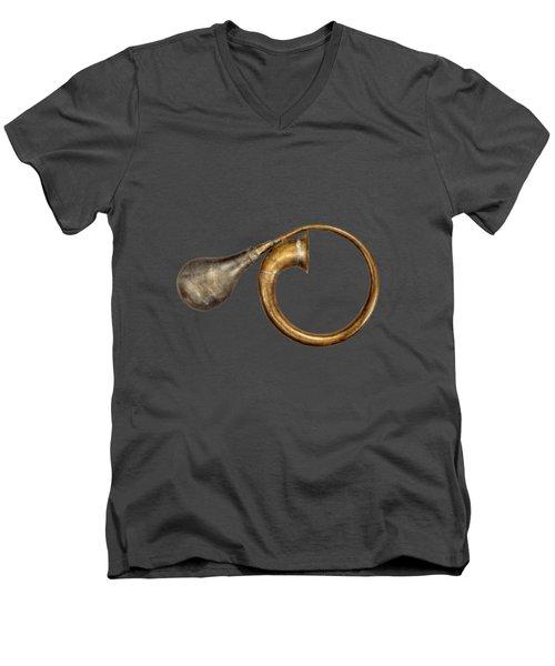 Antique Brass Car Horn Men's V-Neck T-Shirt by YoPedro