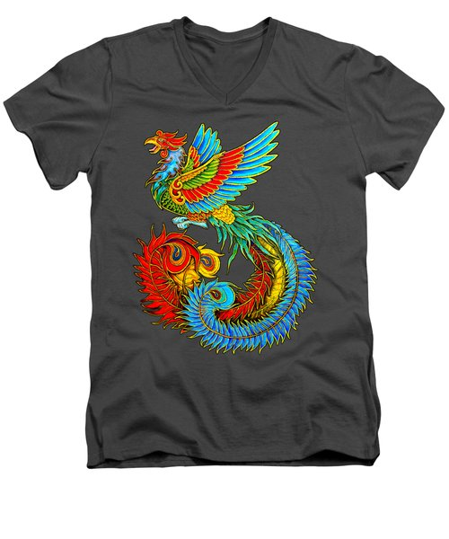 Fenghuang Chinese Phoenix Men's V-Neck T-Shirt