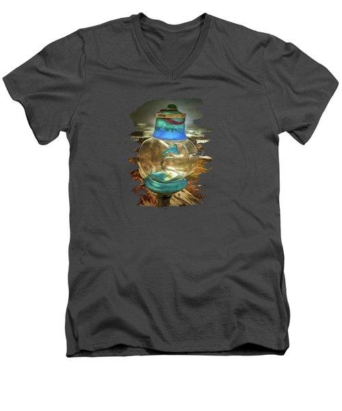 Beach Treasures - Faith Men's V-Neck T-Shirt by Thom Zehrfeld