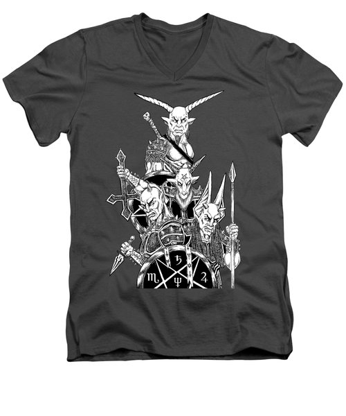 The Infernal Army White Version Men's V-Neck T-Shirt by Alaric Barca