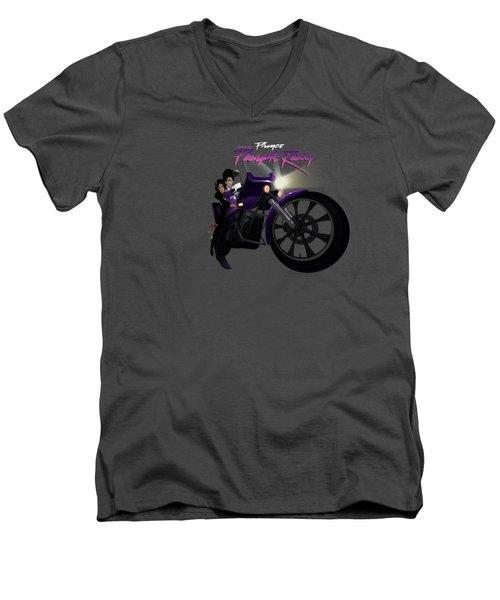 I Grew Up With Purplerain Men's V-Neck T-Shirt