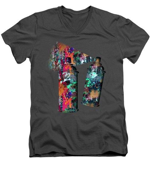 Graffiti And Paint Spray  Men's V-Neck T-Shirt