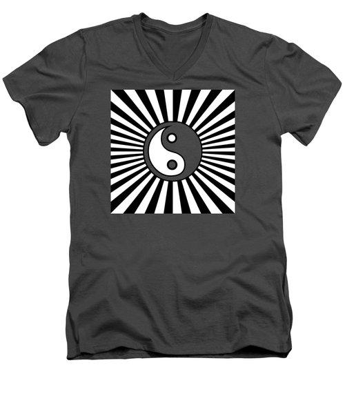 Yinyang Gone Wild Men's V-Neck T-Shirt by Methune Hively
