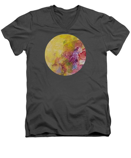 Floral Still Life Men's V-Neck T-Shirt by Mary Wolf