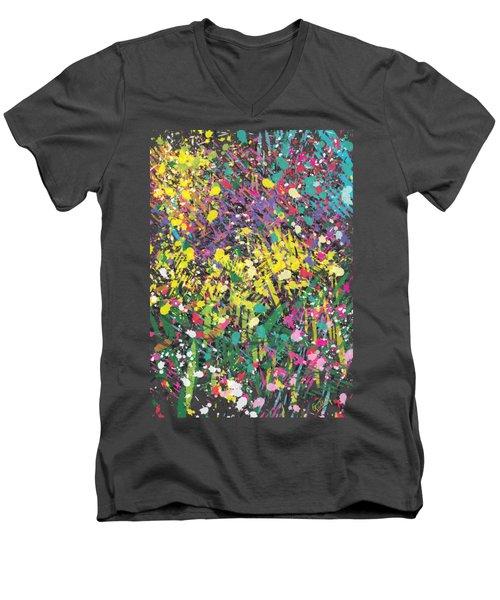 Flower Bed Abstract Men's V-Neck T-Shirt