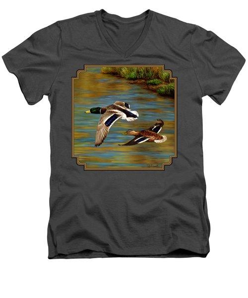 Golden Pond Men's V-Neck T-Shirt by Crista Forest