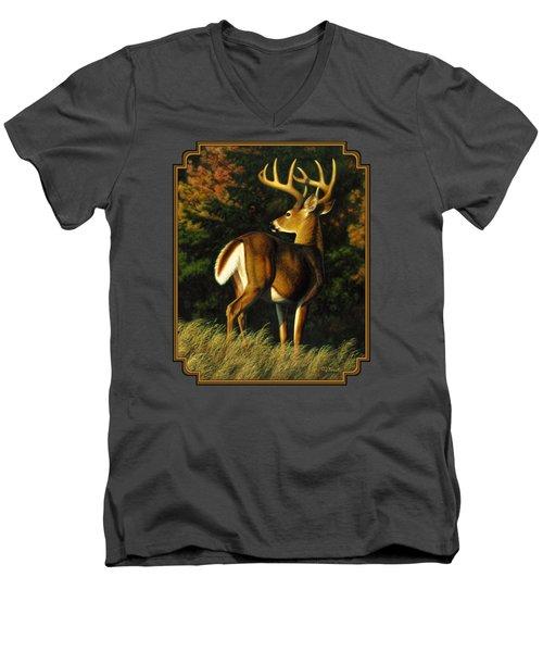 Whitetail Buck - Indecision Men's V-Neck T-Shirt