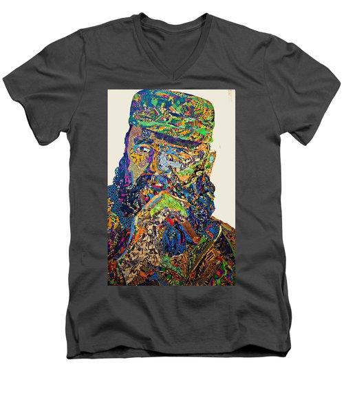 Fidel El Comandante Complejo Men's V-Neck T-Shirt