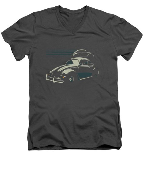 Vw Beatle Men's V-Neck T-Shirt
