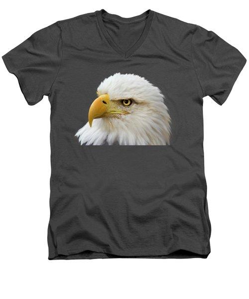 Eagle Eye Men's V-Neck T-Shirt by Shane Bechler