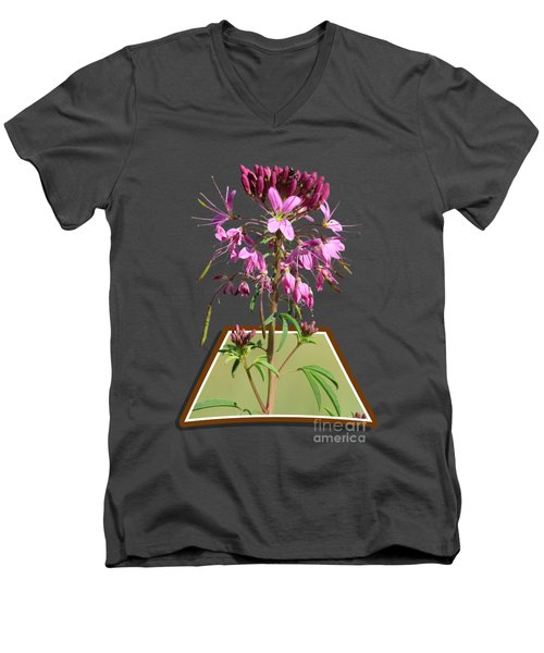Rocky Mountain Bee Plant Men's V-Neck T-Shirt by Shane Bechler