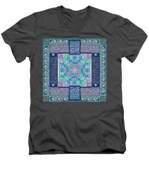 Celtic Atlantis Opal Men's V-Neck T-Shirt