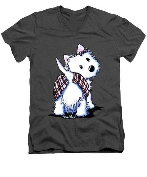 Dressed To Kilt Westie Men's V-Neck T-Shirt