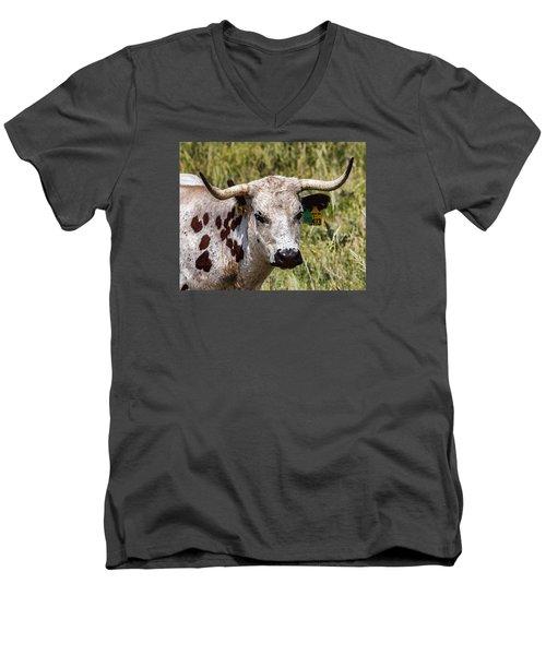 Men's V-Neck T-Shirt featuring the photograph Call Me Spot by Bill Kesler