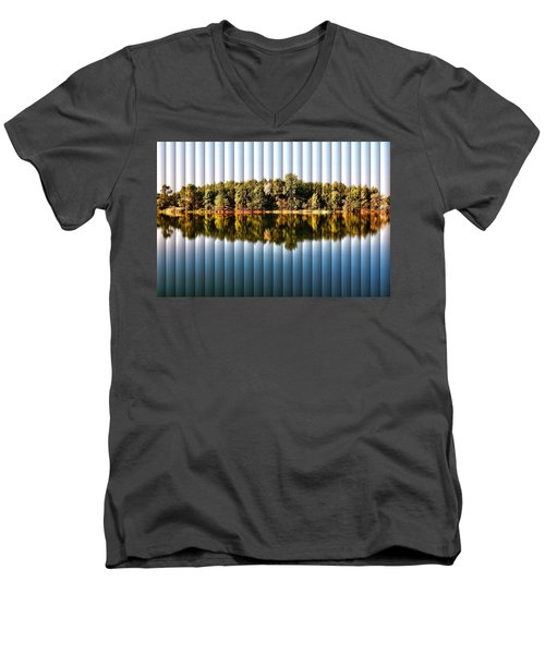 When Nature Reflects - The Slat Collection Men's V-Neck T-Shirt by Bill Kesler