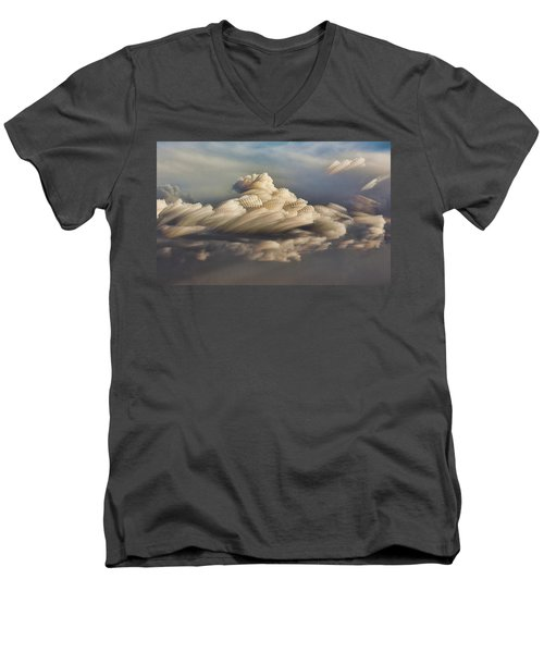 Cupcake In The Cloud Men's V-Neck T-Shirt by Bill Kesler