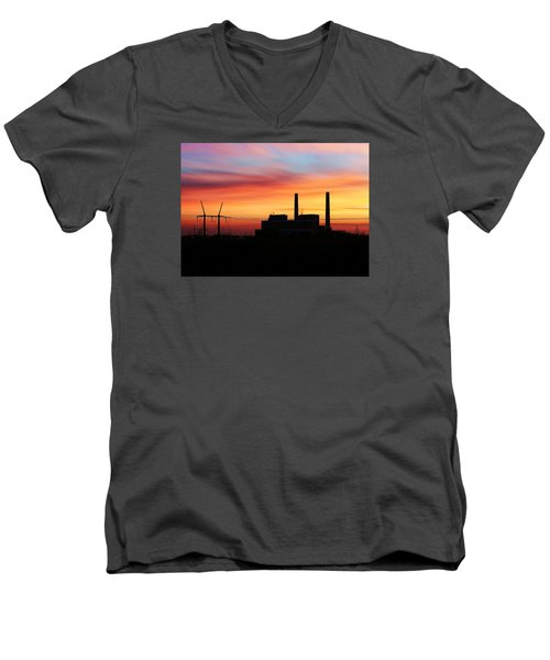 A Gentleman Sunrise Men's V-Neck T-Shirt by Bill Kesler