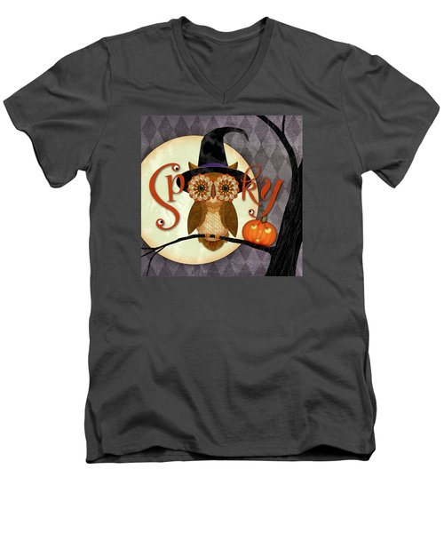 Spooky Owl Men's V-Neck T-Shirt