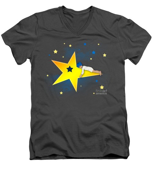 Star Child Men's V-Neck T-Shirt