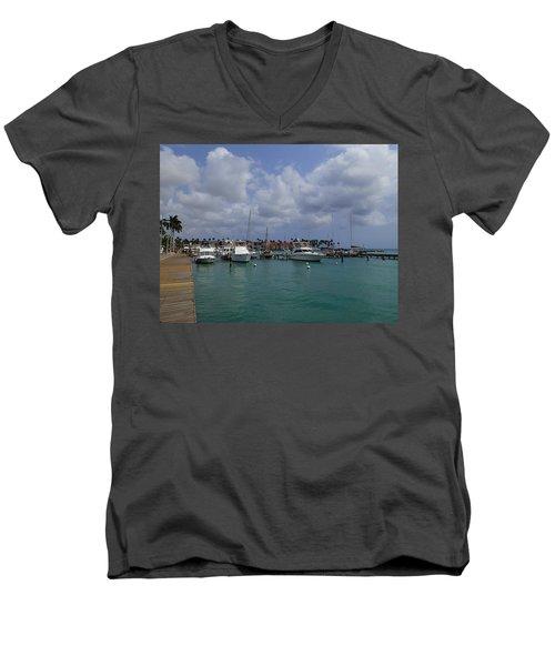 Aruba Marina Men's V-Neck T-Shirt