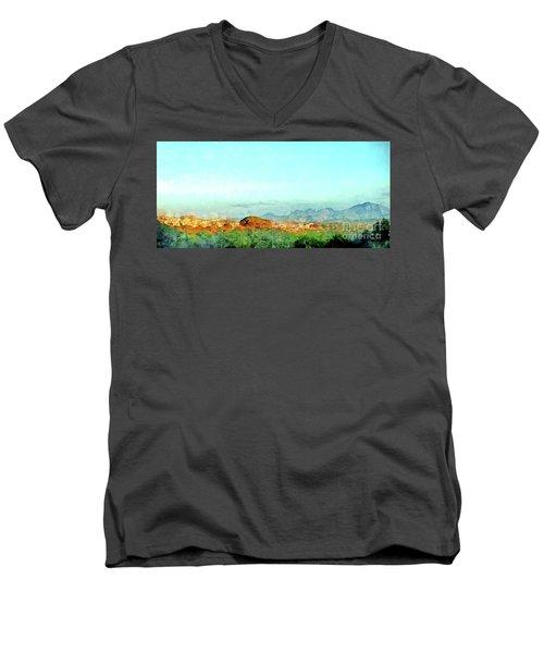 Arzachena Landscape With Mountains Men's V-Neck T-Shirt