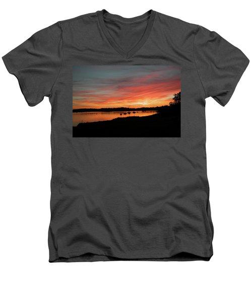 Arzal Sunset Men's V-Neck T-Shirt
