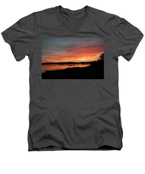 Arzal Sunset Men's V-Neck T-Shirt
