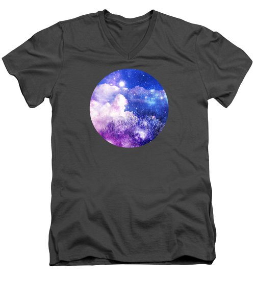 Men's V-Neck T-Shirt featuring the photograph As It Is In Heaven Mandala by Leanne Seymour