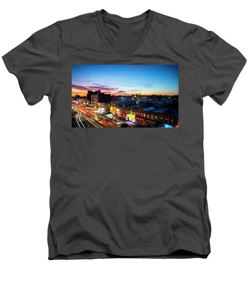As Night Falls Men's V-Neck T-Shirt