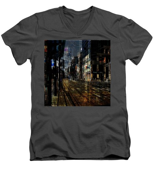 As The Sun Goes Down Men's V-Neck T-Shirt by Nicky Jameson