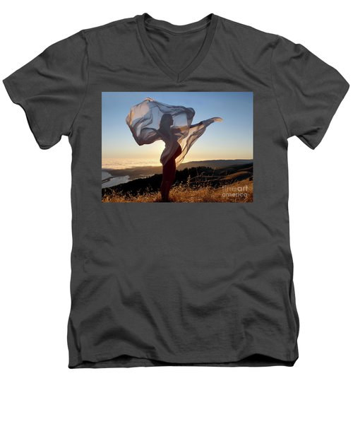 As The Wind Carries The Flower Of A New Life Men's V-Neck T-Shirt