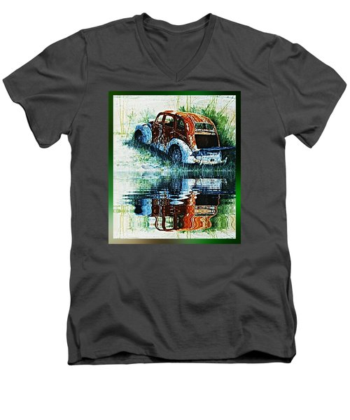 As Time Goes By. . . Men's V-Neck T-Shirt by Hartmut Jager