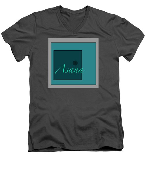 Asana In Blue Men's V-Neck T-Shirt by Kandy Hurley
