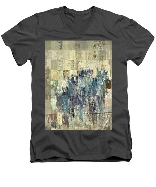 Men's V-Neck T-Shirt featuring the painting Ascension - C03xt-159at2b by Variance Collections