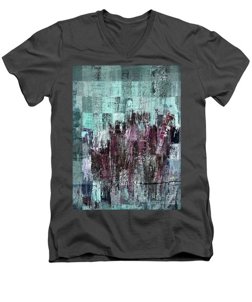 Men's V-Neck T-Shirt featuring the digital art Ascension - C03xt-161at2c by Variance Collections