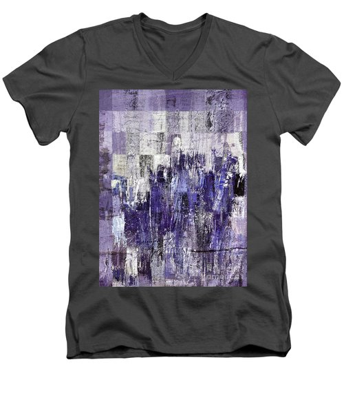 Men's V-Neck T-Shirt featuring the painting Ascension - C03xt-166at2c by Variance Collections