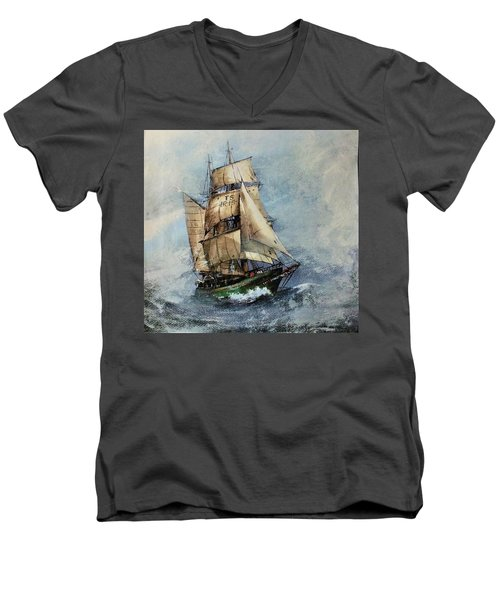 F 827 Asgard Storm Off Galway. Men's V-Neck T-Shirt
