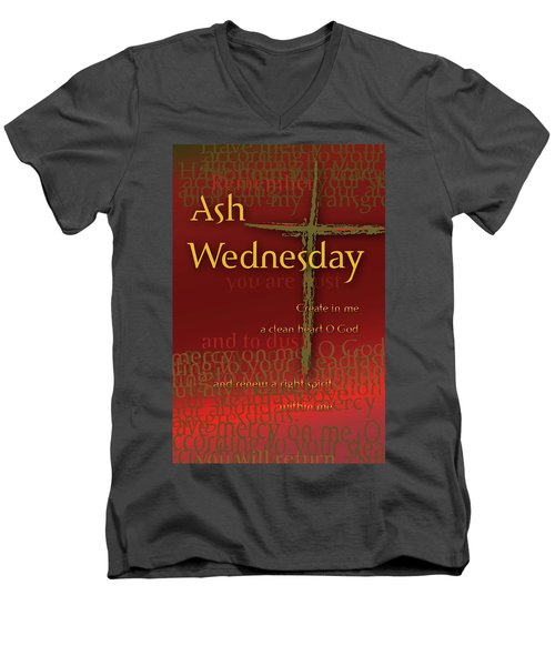 Ash Wednesday Men's V-Neck T-Shirt by Chuck Mountain