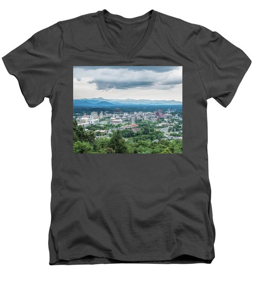 Asheville Afternoon Cropped Men's V-Neck T-Shirt