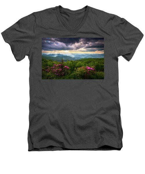 Asheville Nc Blue Ridge Parkway Scenic Landscape Photography Men's V-Neck T-Shirt