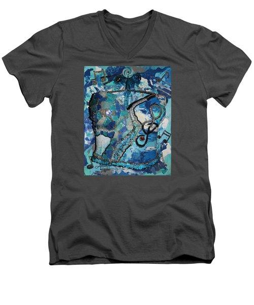 Ashley - Let The Music Play Supporter Men's V-Neck T-Shirt