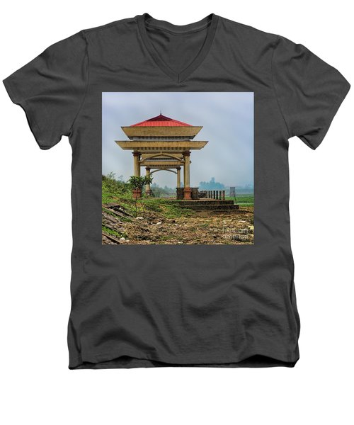 Asian Architecture I Men's V-Neck T-Shirt by Chuck Kuhn