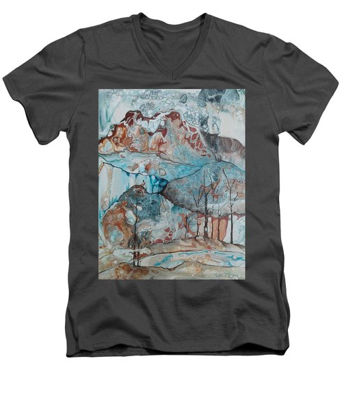 Ice And Fire Men's V-Neck T-Shirt