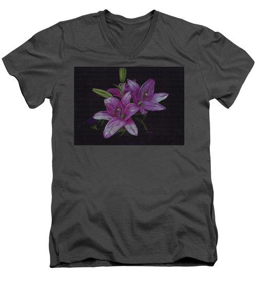 Asian Lillies Men's V-Neck T-Shirt