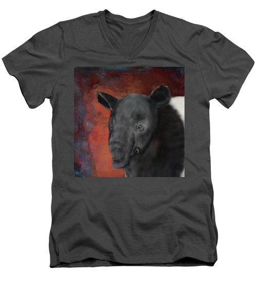 Asian Tapir Men's V-Neck T-Shirt