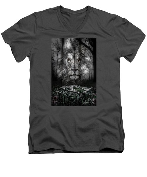 Aslan And The Stone Table Men's V-Neck T-Shirt